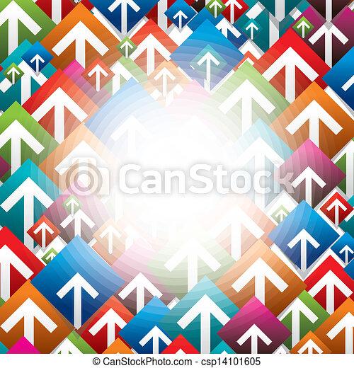 boutons, ensemble, coloré, flèche - csp14101605