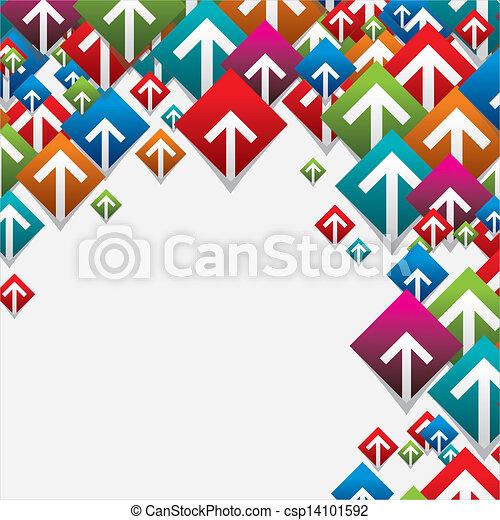 boutons, ensemble, coloré, flèche - csp14101592