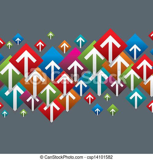 boutons, ensemble, coloré, flèche - csp14101582