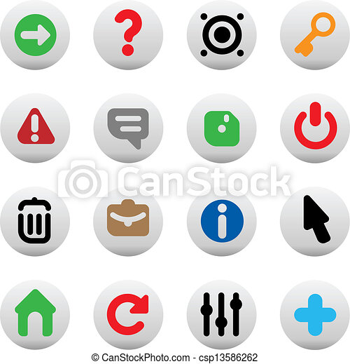 boutons, interface - csp13586262