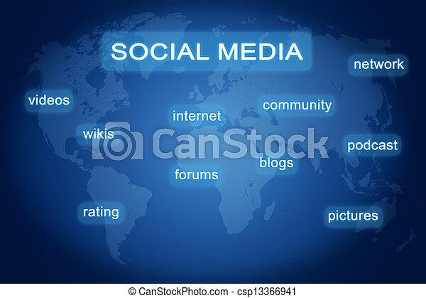 boutons, média, social - csp13366941