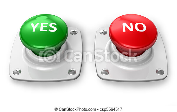 boutons, oui, non - csp5564517