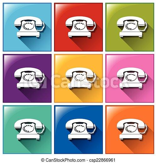 boutons, téléphones - csp22866961