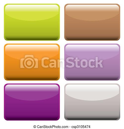 boutons, toile, coloré, oblong - csp3105474