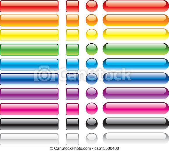 boutons, toile, ensemble, coloré - csp15500400