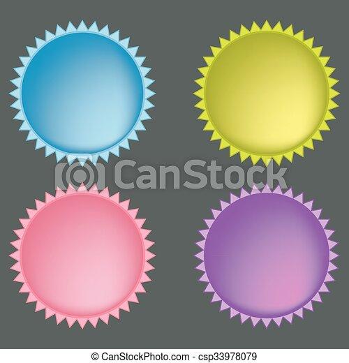 boutons, toile, ensemble, coloré - csp33978079