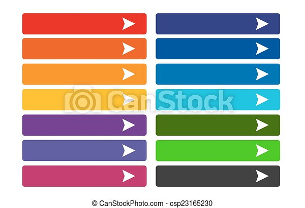 boutons, toile, ensemble, coloré - csp23165230