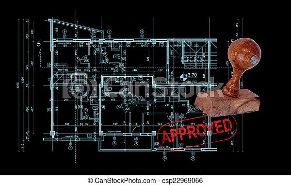 bouwschets, abstract, architectuur - csp22969066