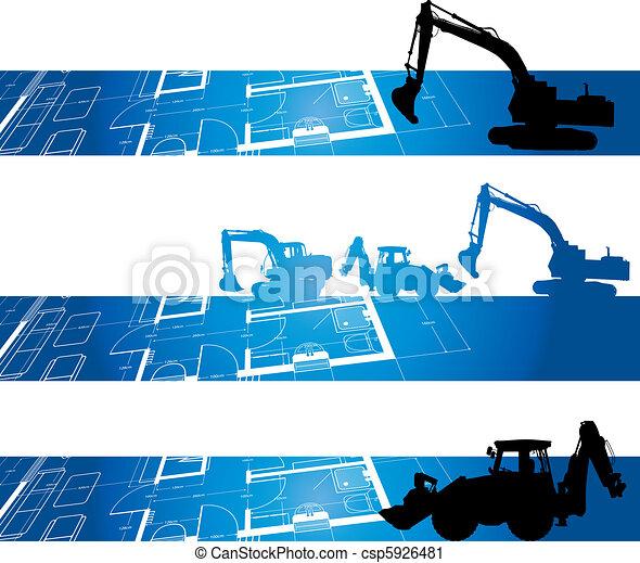 bouwsector, achtergrond - csp5926481