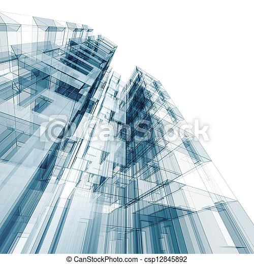 bouwsector, architectuur - csp12845892
