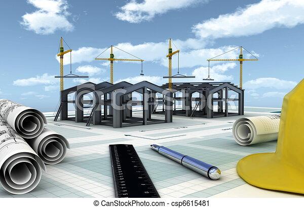 bouwsector, fabriek - csp6615481