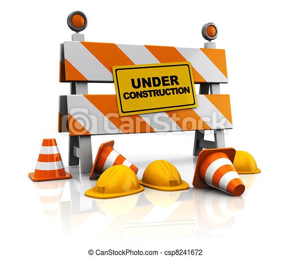 bouwsector, onder - csp8241672