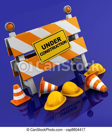 bouwsector, onder - csp8804417
