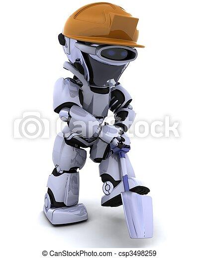 bouwsector, robot, spade - csp3498259