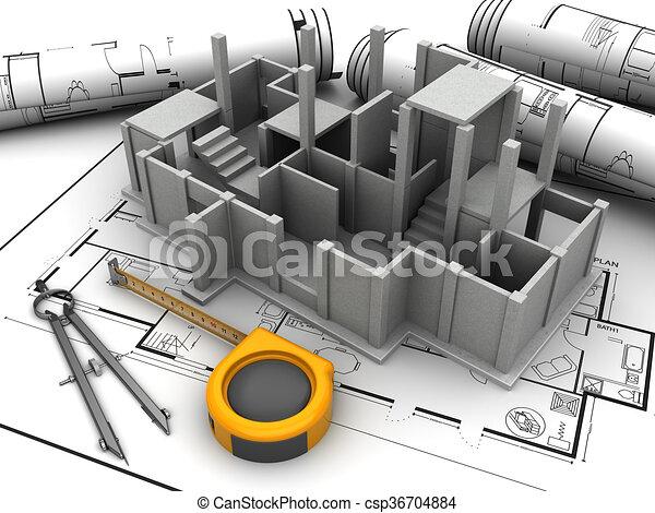 bouwsector - csp36704884