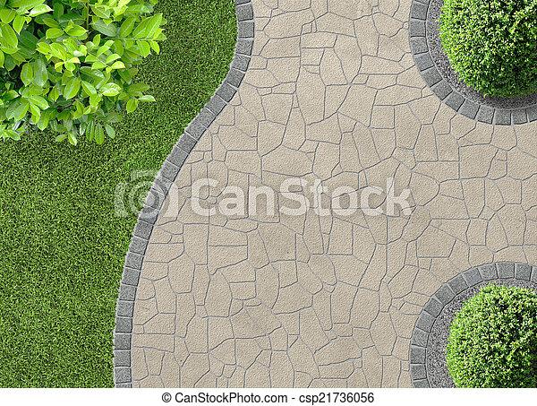 bovenzijde, gardendetail, aanzicht - csp21736056