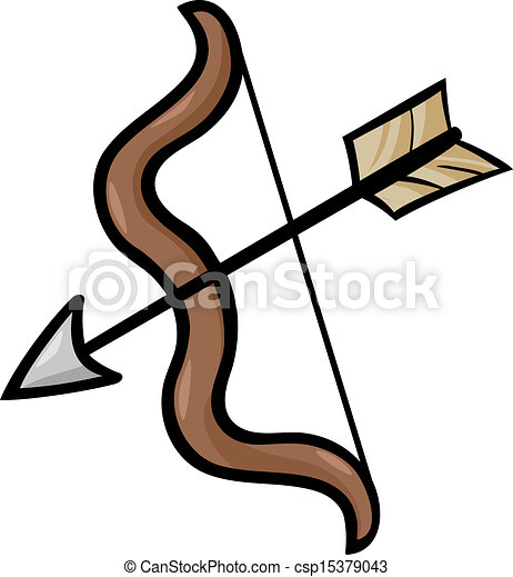 bow and arrow clip art cartoon illustration cartoon eps vector rh canstockphoto com