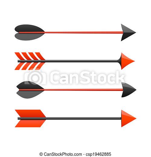 Bow arrows - csp19462885