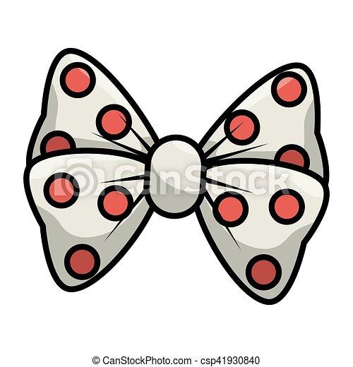 bow cute female icon - csp41930840