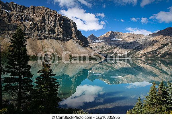 Bow lake at the Banff National Park - csp10835955