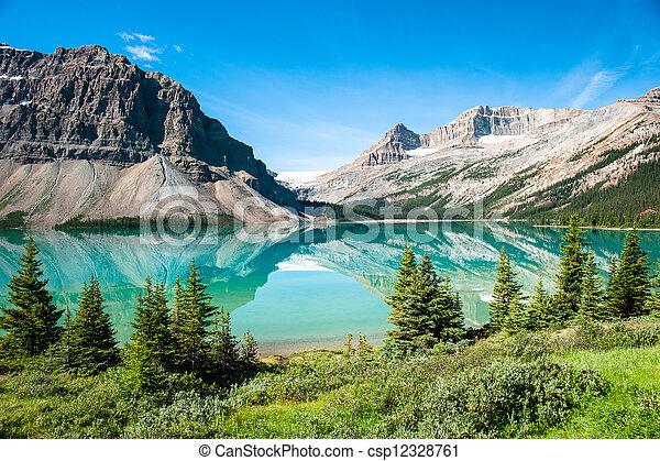 Bow Lake Panorama - csp12328761