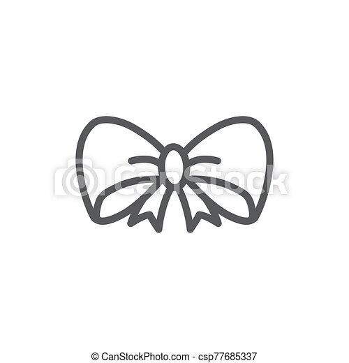 Bow Line Icon On White Background - csp77685337