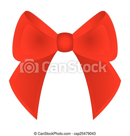 bow on a white background  - csp25479043
