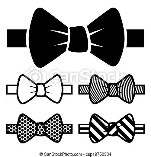 Bow Tie Icons Set - csp19750384