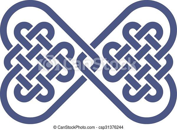 Bow tie knot - csp31376244