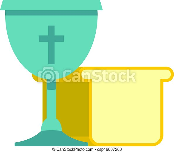 Bowl and bread icon isolated - csp46807280