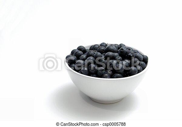 Bowl of Blueberries - csp0005788
