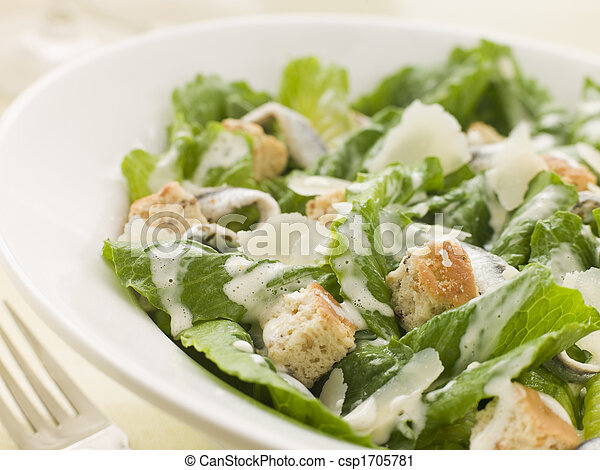 Bowl of Caesar Salad - csp1705781