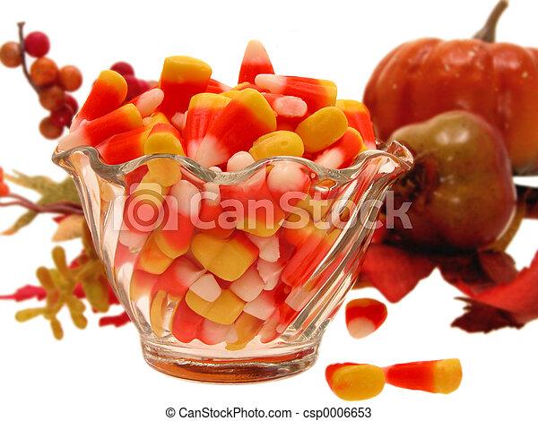 Bowl of Candy Corn - csp0006653