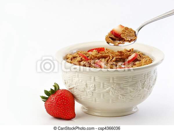Bowl of cereal and milk - csp4366036