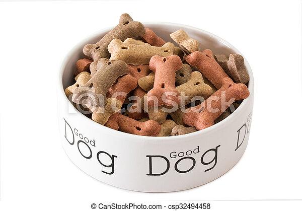 Bowl of dog food - csp32494458