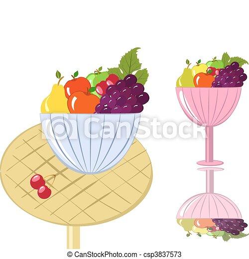 bowl of fruit - csp3837573