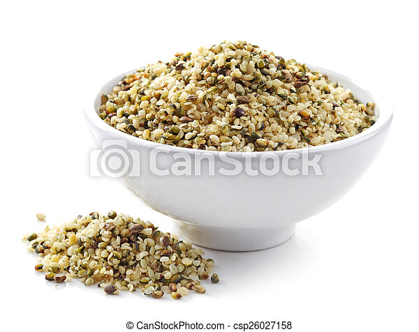 bowl of hemp seeds - csp26027158