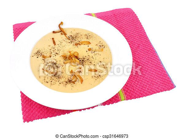 Bowl Of Mushroom Soup - csp31646973