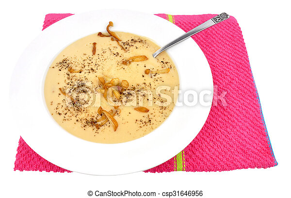 Bowl Of Mushroom Soup - csp31646956