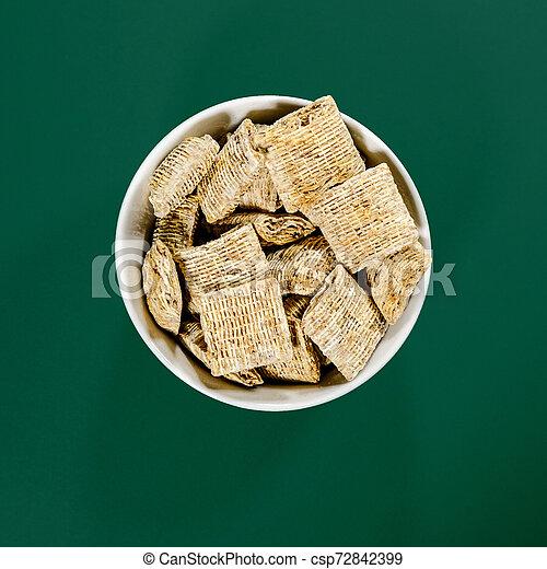 Bowl of Nestle Bitesize Shredded Wheat Breakfast Cereals - csp72842399