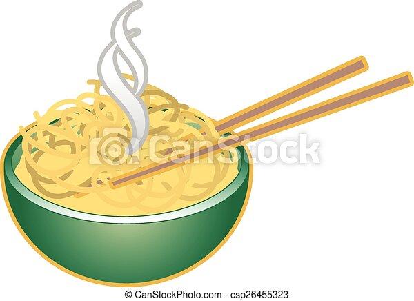 bowl of noodles - csp26455323