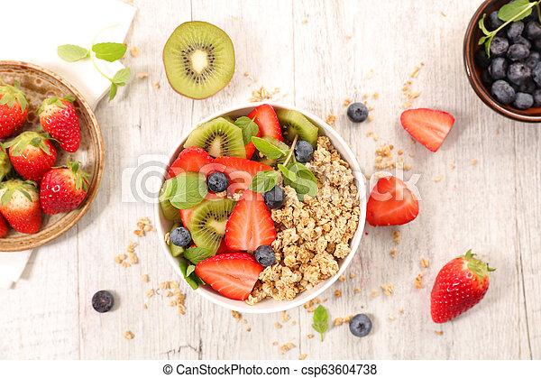 bowl of oatmeal - csp63604738