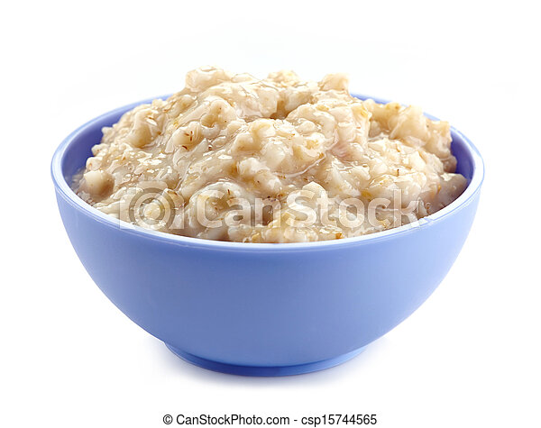 Bowl of oats porridge - csp15744565