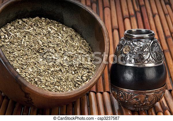 Bowl of yerba and mate - csp3237587