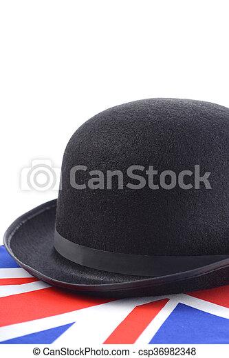 Union Jack Felt Bowler Hat