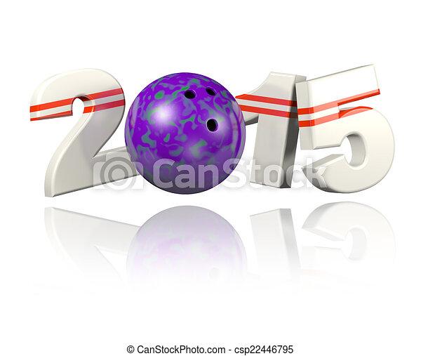 Bowling 2015 design - csp22446795