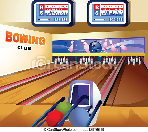 bowling alley this illustration is a common natural landscape rh canstockphoto com Bowling Floor Bowling Clip Art