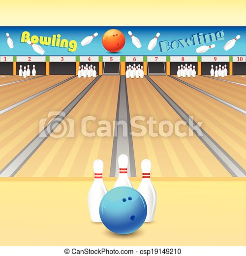 bowling alley vector illustration of skittle and bowling vector rh canstockphoto com Happy Old Man Bowling bowling alley clipart free