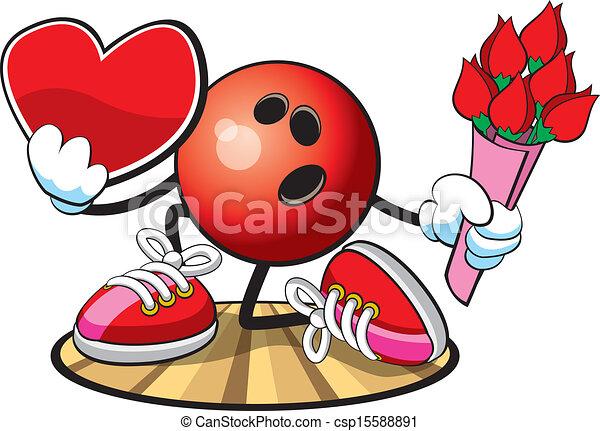 Bowling Ball character - csp15588891