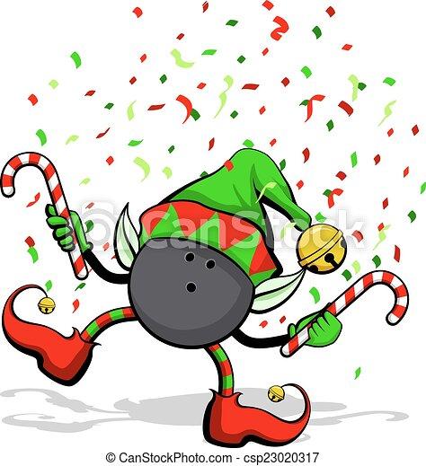 Bowling Ball Christmas Elf - csp23020317